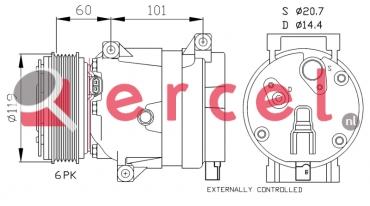 Airco compressor REK 049 OEM