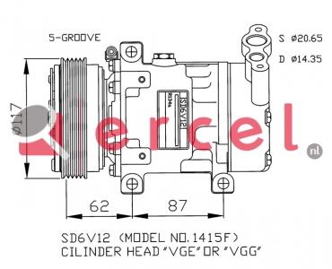 Airco compressor REK 057 OEM