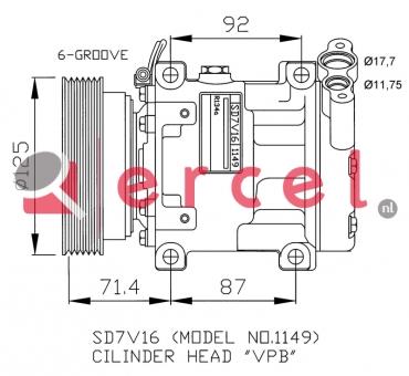 Airco compressor REK 046 OEM