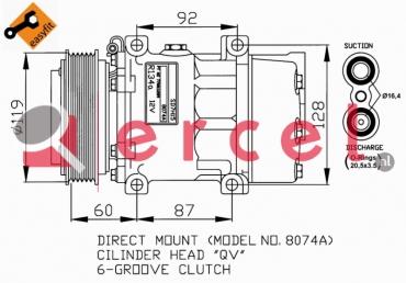 Airco compressor REK 026 OEM