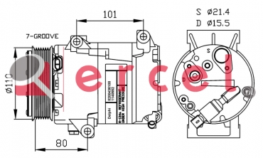 Airco compressor REK 068 OEM