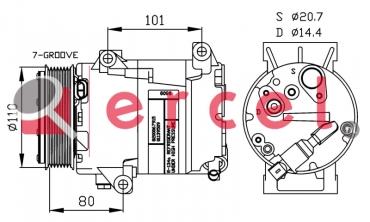 Airco compressor REK 063 OEM