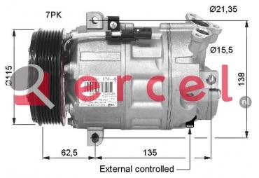 Airco compressor NIK 024 OEM