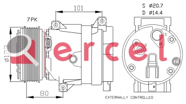 Airco compressor REK 073 OEM
