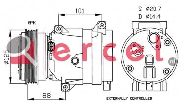 Airco compressor REK 048 OEM