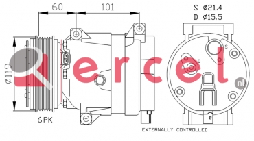 Airco compressor REK 071 OEM