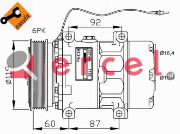 Airco compressor REK 033 OEM