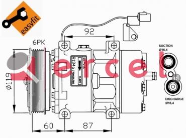 Airco compressor VOK 006 OEM