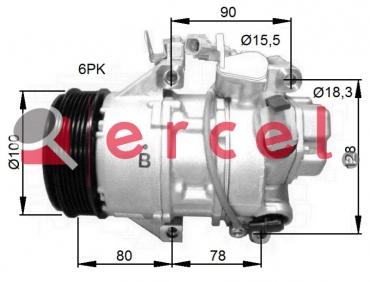 Airco compressor TOK 140 OEM