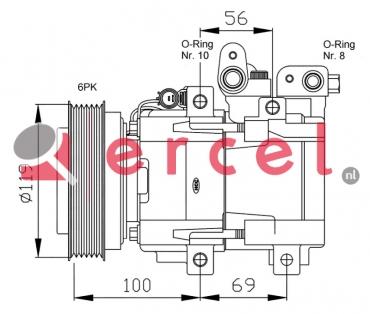 Airco compressor HYK 023 OEM