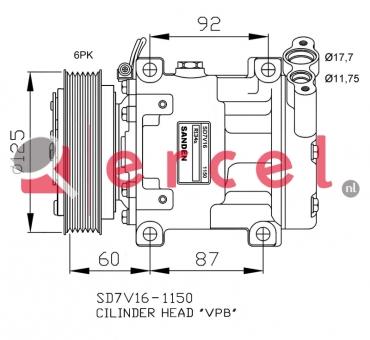 Airco compressor REK 001 OEM