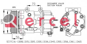 Airco compressor CIK 034 OEM
