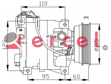 Airco compressor IVK 004 OEM