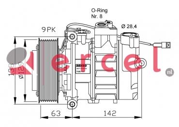 Airco compressor MBK 034 OEM
