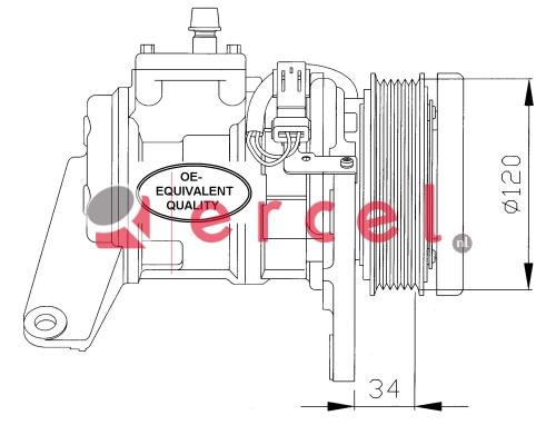 Airco compressor CRK 014