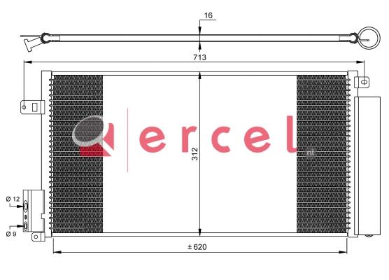 Airco condensor FIC 515