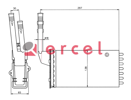 Kachelradiateur PEH 206