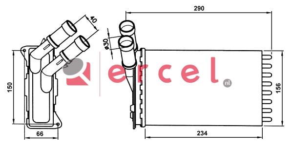 Kachelradiateur CIH 206