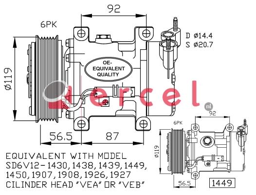 Airco compressor PEK 005