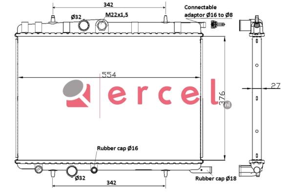 Radiateur PEX 002
