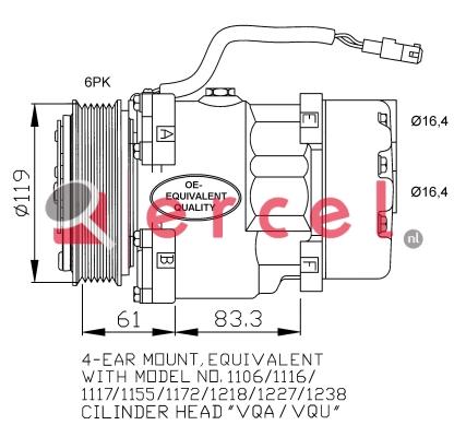 Airco compressor CIK 002