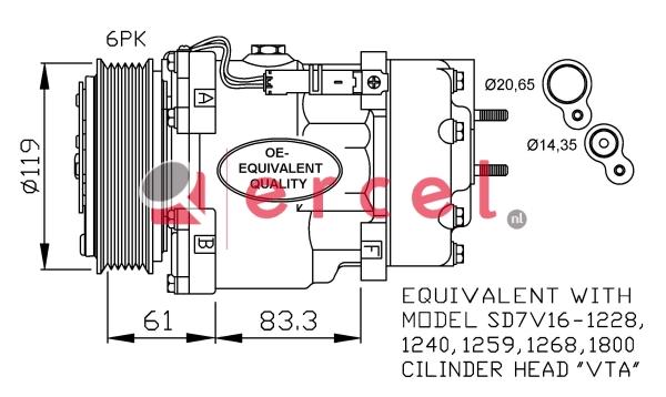 Airco compressor CIK 018