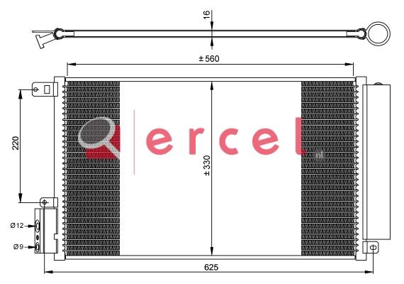 Airco condensor ARC 558
