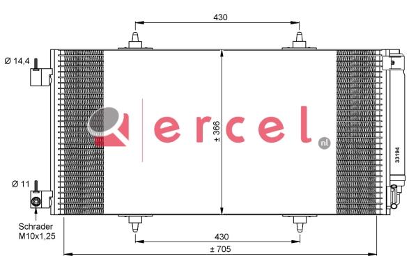 Airco condensor CIC 560