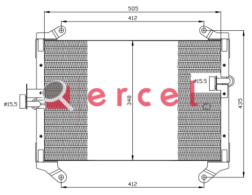 Airco condensor FIC 599