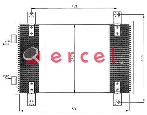 Airco condensor FIC 593