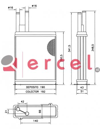 Kachelradiateur FIH 234