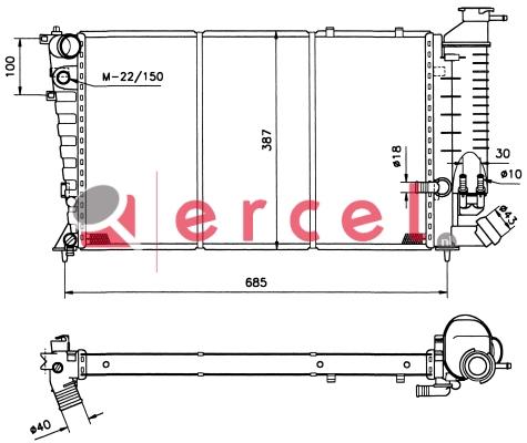 Radiateur PER 122