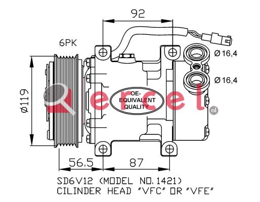 Airco compressor CIK 004