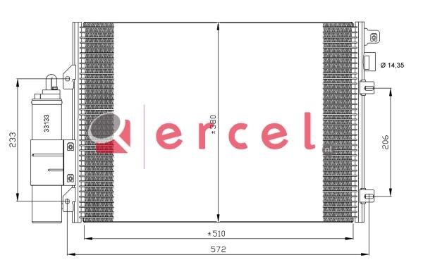 Airco condensor REC 523