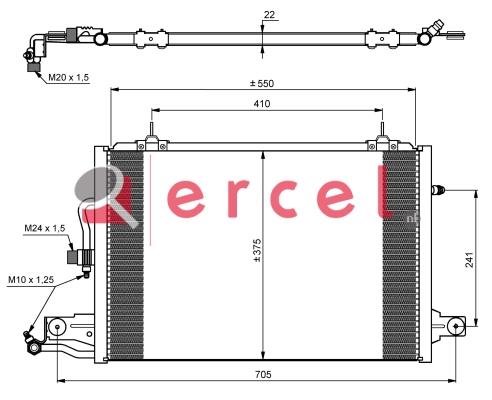 Airco condensor AUC 502