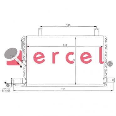 Airco condensor AUC 512