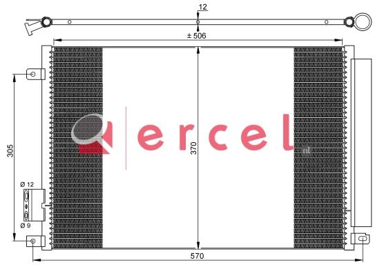 Airco condensor FIC 549