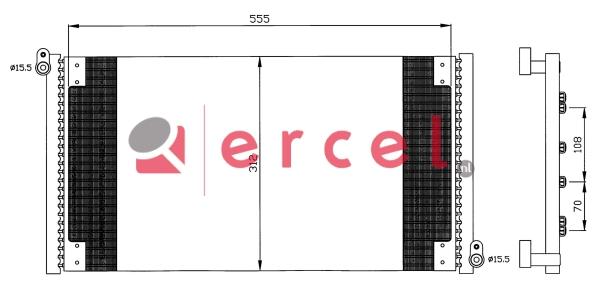 Airco condensor FIC 556