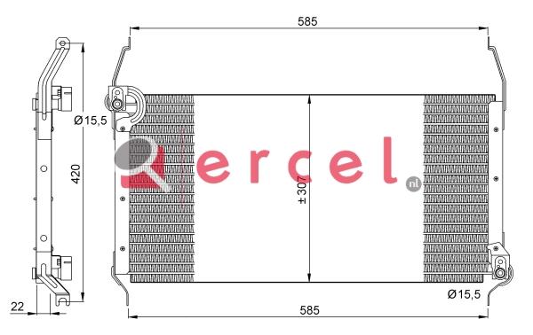 Airco condensor FIC 528