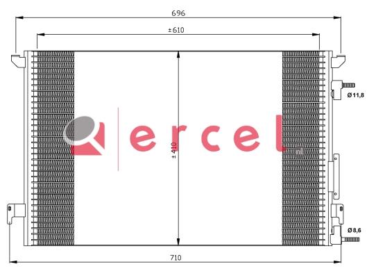 Airco condensor OPC 558