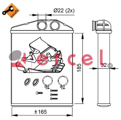 Kachelradiateur OPH 274