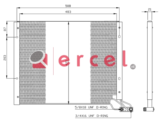 Airco condensor FIC 534