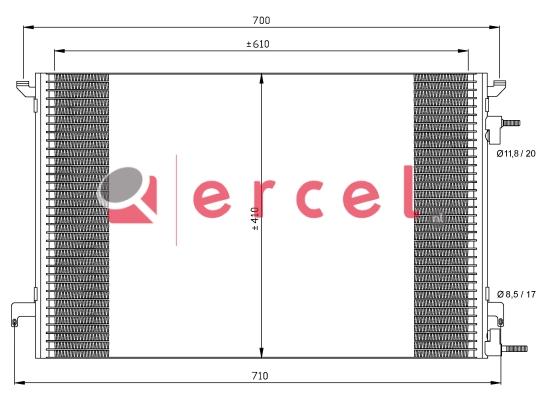 Airco condensor OPC 505